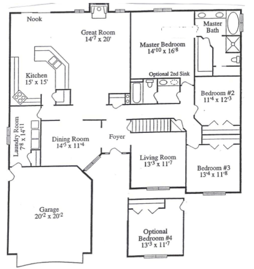 Build your dream home for Ranch floor plans with great room